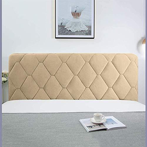 YYSDH Funda para cabecera de cama, con lado elástico y bolsillo a prueba de polvo, funda de algodón a prueba de polvo para dormitorio (color: champán, tamaño: 180 x 73 cm)