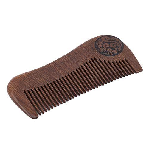 HENGSONG Peigne À Cheveux - Peigne En Bois Démêlant Naturel Pour Cheveux Bouclés - Pas De Peigne En Bois De Santal Statique Pour Femmes Et Hommes