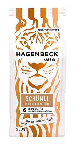 Hagenbeck - Kaffee - Schümli - Röstkaffee - ganze Kaffeebohnen - 250g - Aromatisch - Vielfältig - Einzigartige Crema