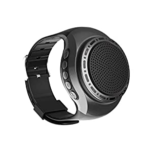 Portable Sports Bluetooth Speaker Watch with Multi Function MP3 Player & FM Radio & Selfie & Anti-Lost & Ultra Long Standby Time for Running, Hiking, Climbing