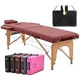 PSHH Table de Massage Pliante Bois,250kg Table de Massage Professionnelle, Table de Soins énergétiques, Table de Soin esthetique, Table de Soin Pliante, Table Massage Pliante Large