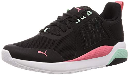 PUMA Anzarun, Zapatillas Unisex Adulto, Negro Black-Sun Kissed Coral-Mist Green, 44.5 EU
