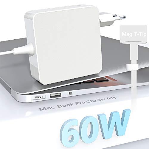 Eletrand Mac Book Pro Cargador Adaptador T-Tip Cargador 60W reemplazo del Cargador para Mac Book Pro Retina de 13 Pulgadas y Mac Book Air (después de Finales de 2012), Funciona con 45 W / 60 W