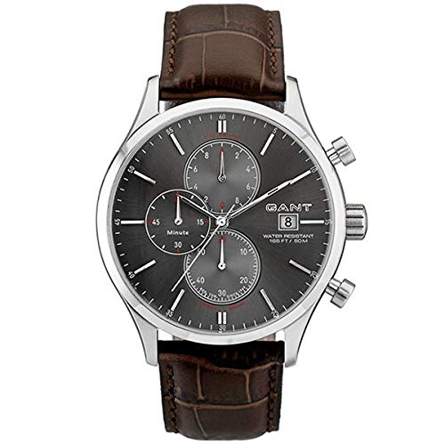 GANT Herren-Armbanduhr XL Analog Quarz Leder W70403