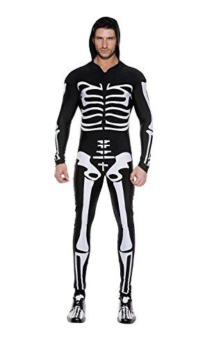 GGTBOUTIQUE Heren Skelet Gothic Body Suit Kostuum