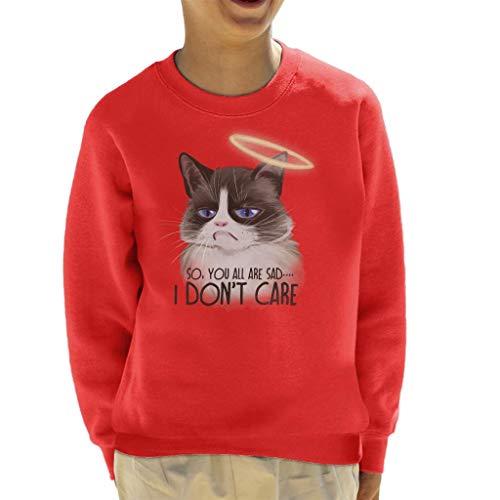 Cloud City 7 I Dont Care Cat Halo Kid's Sweatshirt