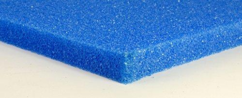 Friscer Filterschaumstoff Filterschwamm Filterschaum - blau 3 cm Platte PPI 20 mittel