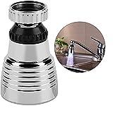 Hztyyier LED Wasser Wasserhahn, 360 ° Swivel Temperaturempfindliche Wasserhahn LED Licht Wasserhahn Waschbecken