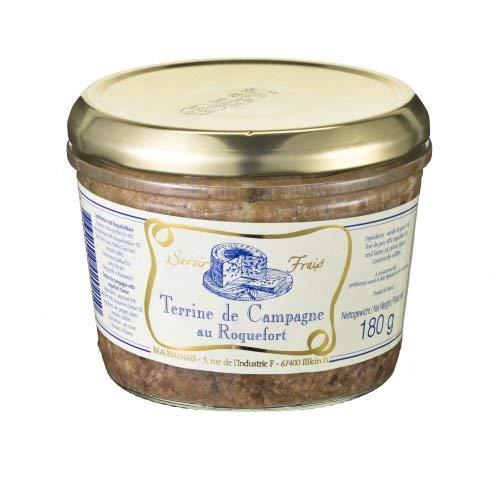 Landterrine mit Roquefortkäse aus Frankreich, 180g