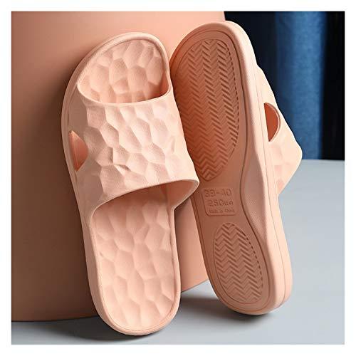 YXCKG Herren Damen Badeschuhe Badeschlappen Slippers Sommer, Hausschuhe Für Männer, Hausschuhe Für Männer, Badeschuhe Für Frauen, Duschschuhe Hausschuhschuhe (Color : Nude, Size : EUR 36-37-38)