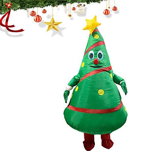 AirintheMoon Colpo 1pc Gonfiabile Costume dell'albero di Natale Suit Up Costume Travestimento Costume Divertente Corpo per Adulti Natale la Festa del Partito di Cosplay Prop