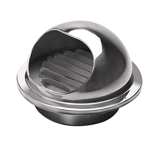 Great Price! LXLTL Vent Cowl 304 Stainless Steel Wall Air Vent Louvers Grill Extractor Cover with Fl...