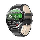 Yohuton - Reloj inteligente inteligente para hombre, ritmo cardíaco, IP68 impermeable, seguimiento de actividad de pantalla táctil, podómetro, seguimiento de sueño y natación para hombres (piel negra)