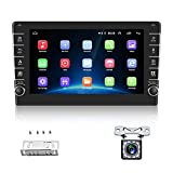 """AMPrime Double Din Car Stereo Radio with Bluetooth 8.0"""" HD 1080P Touch Screen FM Receiver MP5 Car Multimedia Player Support Mirror Link, WiFi,GPS, USB Input, Backup Camera,SWC …"""