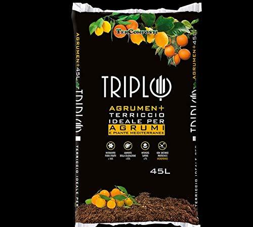 Terra terriccio Triplo Agrumen 45 Litri Limoni Piante mediterranee agrumi Arance mandarini