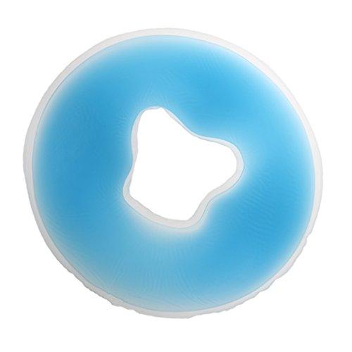 Baoblaze Gelkissen Gesichtskissen Gelkissen Gesicht Stütze Kissen für Massage - Blau