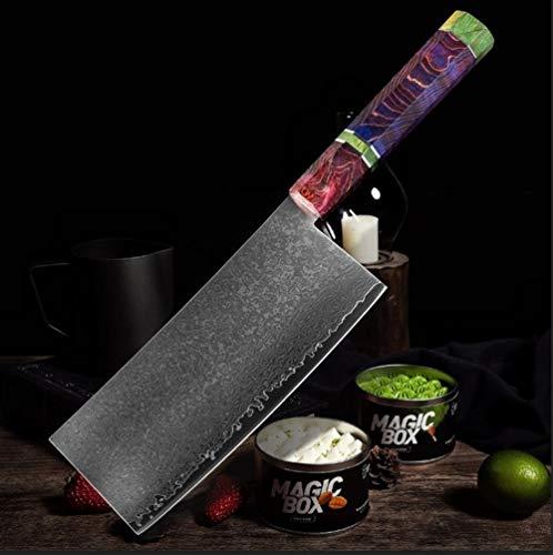 Chino Cuchillo de cocina acero de Damasco de 67 capas chino cocinero cuchillo afilado cuchillo Cleaver Peeling Vegetal Home Hotel utensilios de cocina cocina