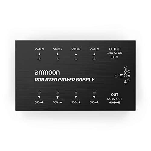Gitarre Pedal Netzteil, ammoon 8 isolierte Ausgänge Pedal Power Supply Effektpedal Netzteil für 9V/12V Effektpedale