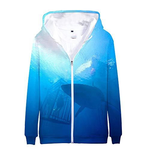 UOkjhdfng 47 Meters Down: Uncaged Pullover Chaqueta con Capucha de impresión Camiseta de la Moda Las Tapas Ocasionales Unisex Unisex (Color : A02, Size : M)