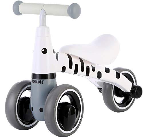 BEKILOLE Baby Balance Bike Ride on Trike Baby Walker 12-24 Months Toys for 1 Year Old Boys Girls Baby Walking Bike First Bike Zebra