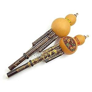 Fairylove Handgemacht Bambus Kürbis Seide Kürbis Flöten Chinesisch Kürbis Die Seide Handcraved Kunst Musical Instrument für Anfänger