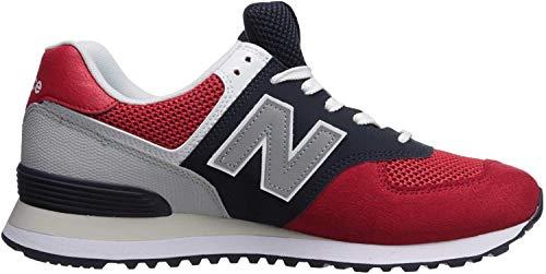 New Balance Ml574v2 Herren-Sneaker, Mehrfarbig - Team Red Pigment - Größe: 37 W EU