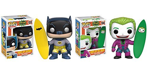 Batman Classic 1966 TV Series Surf Up Batman, Surf Up Joker Pop! Juego de figuras de vinilo (2 unidades)