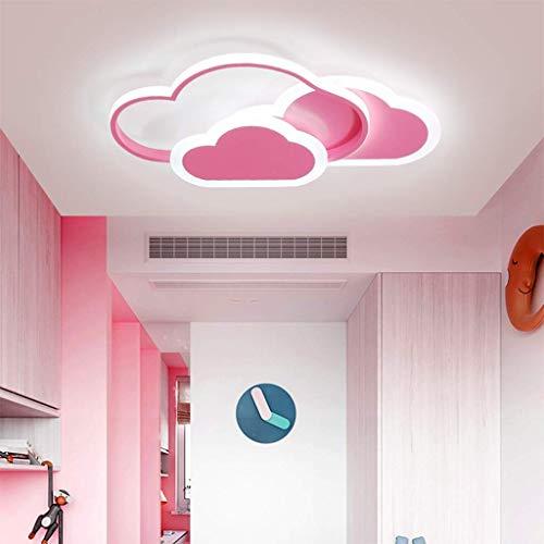 CattleBie Techo Cuerpo de iluminación LED Niños Niños Nube Nube lámpara de Techo Regulable con Mando a Distancia bebé Lámpara Blanca y la lámpara de Techo Rosa Salón Dormitorio Decoración Cubierta de