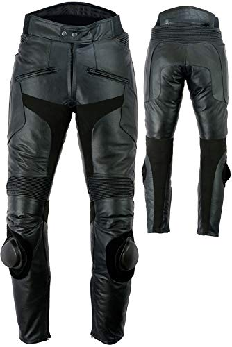 Pantalones de motorista con rodilleras para hombres