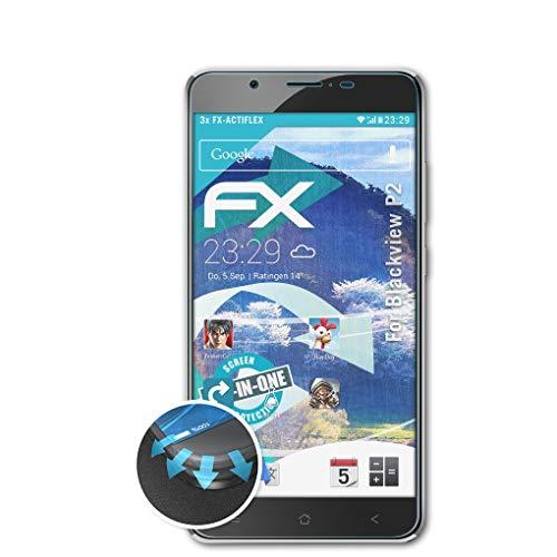 atFolix Schutzfolie kompatibel mit Blackview P2 Folie, ultraklare & Flexible FX Bildschirmschutzfolie (3X)