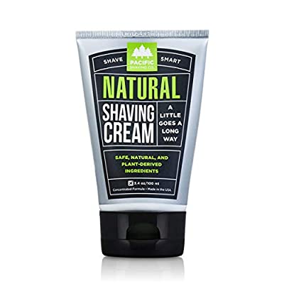 Pacific Shaving Company Natural Shaving Cream - Safe, Natural, and Plant-Derived Ingredients for a Smooth Shave, Softer Skin, Less Irritation, Cruelty Free