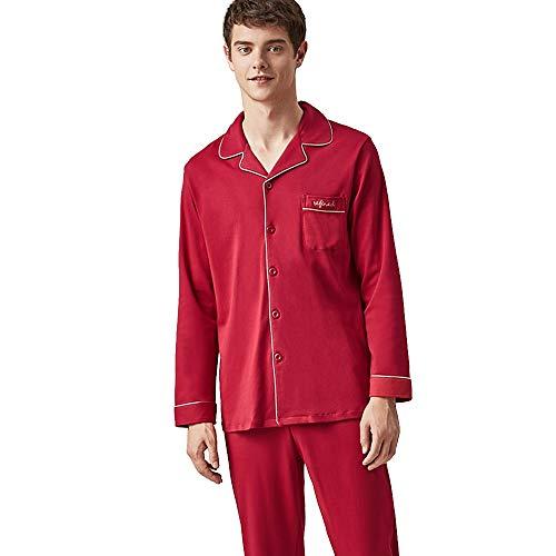 Axdwfd Pijama Boda de algodón Pijamas par, Manga Traje de