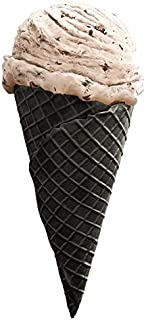 "Black Cocoa Waffle Cone D (3.0"" X 6.5"") - 156 Units / Case - VEGAN (Natural)"