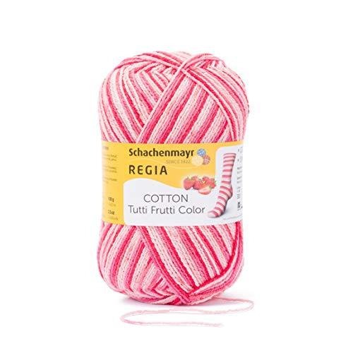 Schachenmayr REGIA Handstrickgarne 4-fädig Cotton Tutti Frutti, 100g Erdbeer