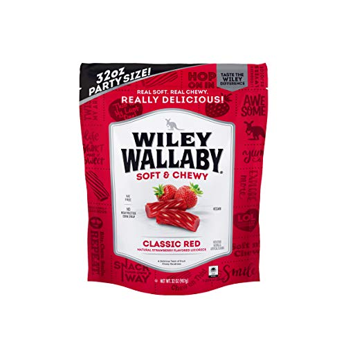 Wiley Wallaby Classic Red Licorice, 32 Ounce Resealable Bag
