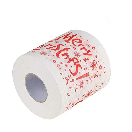 DierCosy Fuentes del baño higiénico Rollo de Papel de Navidad Decoración de Navidad Navidad de Tejidos Inicio Santa Claus Navidad