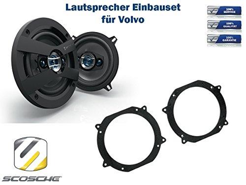 Volvo 760 (704/744-765/745-765) Lautsprecher Einbauset (Türe Front oder Heck) inkl. Scosche HD5254 130mm 3 Wege Triaxial Lautsprecher 200Watt