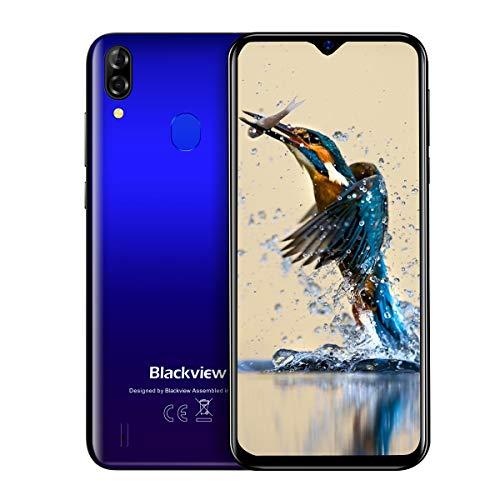 "Blackview A60 Pro Smartphone,6.088"" Waterdrop Schermo,Android 9.0 4G LTE Cellulari Offerte,4080mAh Batteria,Dual SIM Telefonia Mobile,3GB RAM 16GB ROM,Riconoscimento facciale,Sim Free Phone(Blu)"