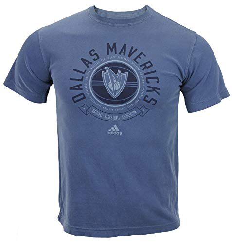 Dallas Mavericks NBA para hombre manga corta pigmento teñido camiseta, azul Jeans, azul Jeans