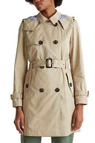 ESPRIT Damen 010EE1G309 Mantel, Beige (Beige 270), Large (Herstellergröße: L)