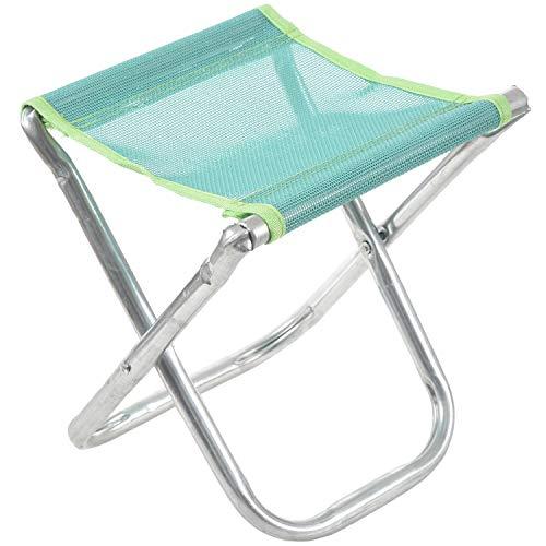 MLXG - Silla plegable de aluminio, taburete para pesca, acampada, picnic, asiento...
