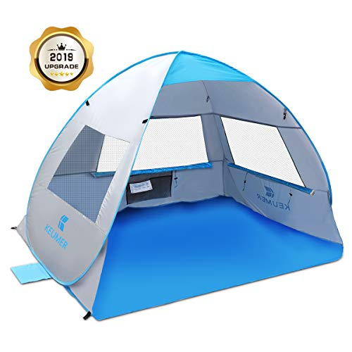 SGODDE Large Pop Up Beach Tent 2019 New Anti UV Sun Shelter...