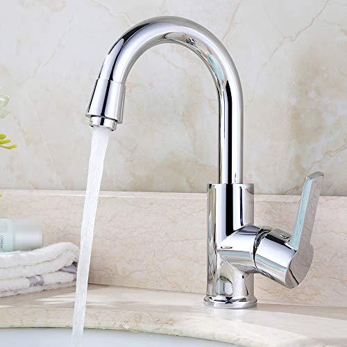 Homelody Bad&Küche Wasserhahn Mischbatterie 360° Drehbar Chrom Küche Küchenarmatur Waschbeckenarmatur Waschtischarmatur Spültischarmatur