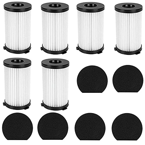 12 filtros Ariete 2761 Handy Force compatibles con Ariete Handyforce 2761 2759, para escoba eléctrica Handyforce, incluye 6 filtros + 6 filtros de espuma