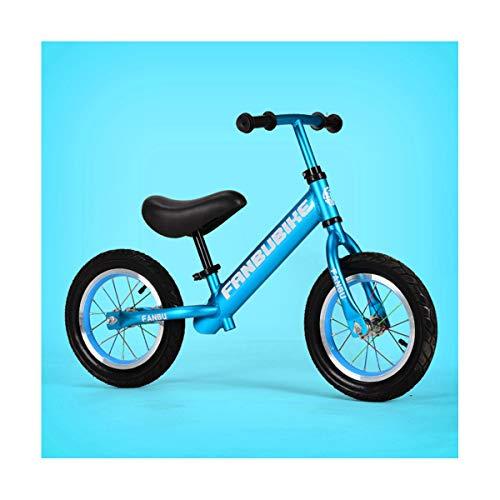 LIDU No Pedal-Weniger Balance Bike Aluminiumlegierung Kinder Balance Fahrrad füR 2~6 Jahre Alt Kinder Komplette Bike füR Kinder Pneumatisches Rad,Blue