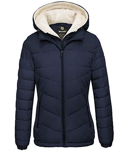 Wantdo Women's Water Resistant Winter Coat Windproof Puffer Jacket Navy X-Large