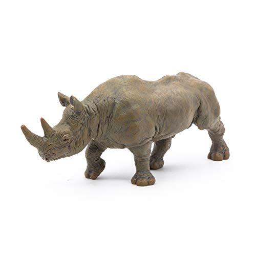 Papo 50066 WILDTIERE DER Welt Schwarzes Nashorn, Mehrfarben