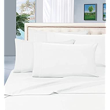 Thread Spread 100% Egyptian Cotton - 500 Thread Count 4 Piece Sheet Set- Color White,Size King - Fits Upto 18'' Deep Pocket