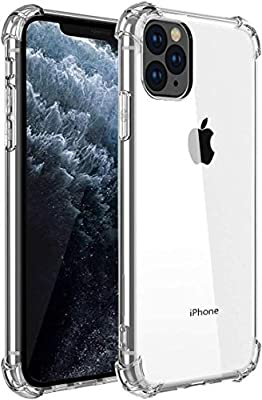 Bekhicc iPhone 11 Pro Case?Upgraded Add Shock Absorption Technology Bumper Soft TPU Clear Cover Case for Apple iPhone 11 Pro 5.8 inch (2019) -(Bright)