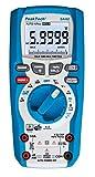 PeakTech 3442 - Multímetro Digital Rms con 60,000 Recuentos y Bluetooth 4.0, Multímetro de Mano Profesional, Retención Automática, Tuv/Gs, Medidor de Voltaje, Probador de Continuidad - Cat III 1000V